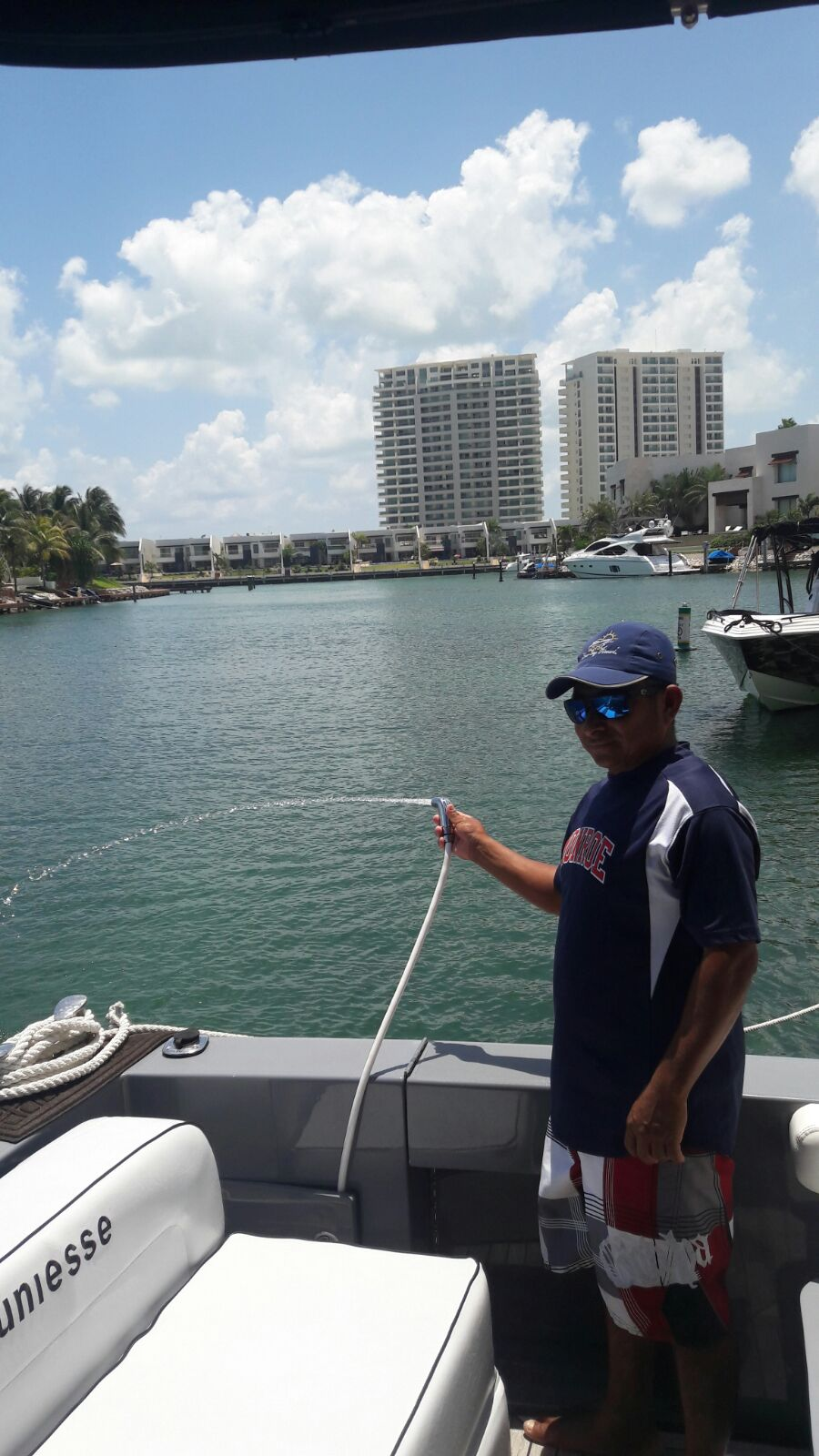 Yacht Charter in Cancun private Luxury yacht charter in cancun sport fishing isla mujeres puerto morelos puerto aventuras cozumel fishing boat fishing charter fishing trip Caribbean fishing charter Uniesse Sapartan 48 Feet in cancun bachelorette party long charter in the caribbean holbox charter