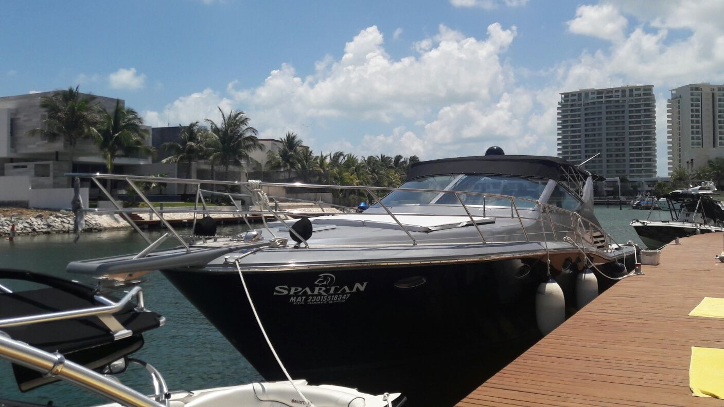 Yacht Charter in Cancun private Luxury yacht charter in cancun sport fishing isla mujeres puerto morelos puerto aventuras cozumel fishing boat fishing charter fishing trip Caribbean fishing charter Uniesse Sapartan 48 Feet in cancun bachelorette party long charter in the caribbean holbox charter snorkel trip
