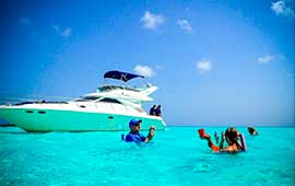 Yacht-Charters-in-Cancun-40 feet-Sea-Ray-Puerto-Aventuras-Private-Charter-4-Hours-In-Ha-Turtle-Snorkel-Tour-luxury-charter-chef-pirvate-tulum-ruins-luxury
