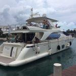 85 Azimut cancun yacht charters