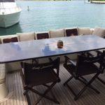 85 Azimut Yacht Charters Cancun back