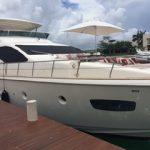 85 ft Azimut Yacht Charterts Cancun front 2