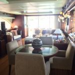 85 ft Azimut Yacht Charterts Cancun living room 3