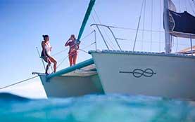 Catamaran-Rentals-in-Puerto-Aventuras-Luxury-Snorrkel-Tour-family Playa del Carmen Rivera Maya Akumal Tulum Yacht Rentals