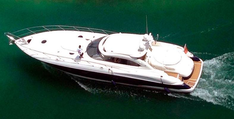 Sunseeker 60 ft yacht rental cancun