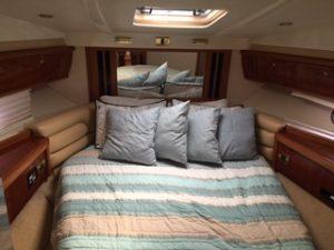 cancun yacht rentals sealine 45 bed 1