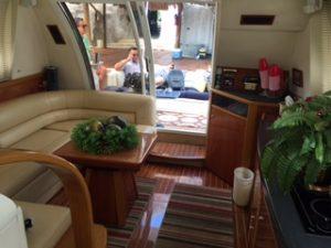 cancun yacht rentals sealine 45 inside